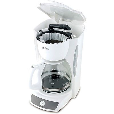 New Mr Coffee 12 Cup Switch Coffee Maker Cg12 Removable Filter Basket White One Cup Coffee Maker Coffee Maker Mr Coffee