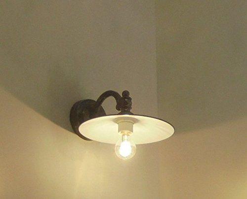 Applique lampada parete lanterna alluminio lampara classi https