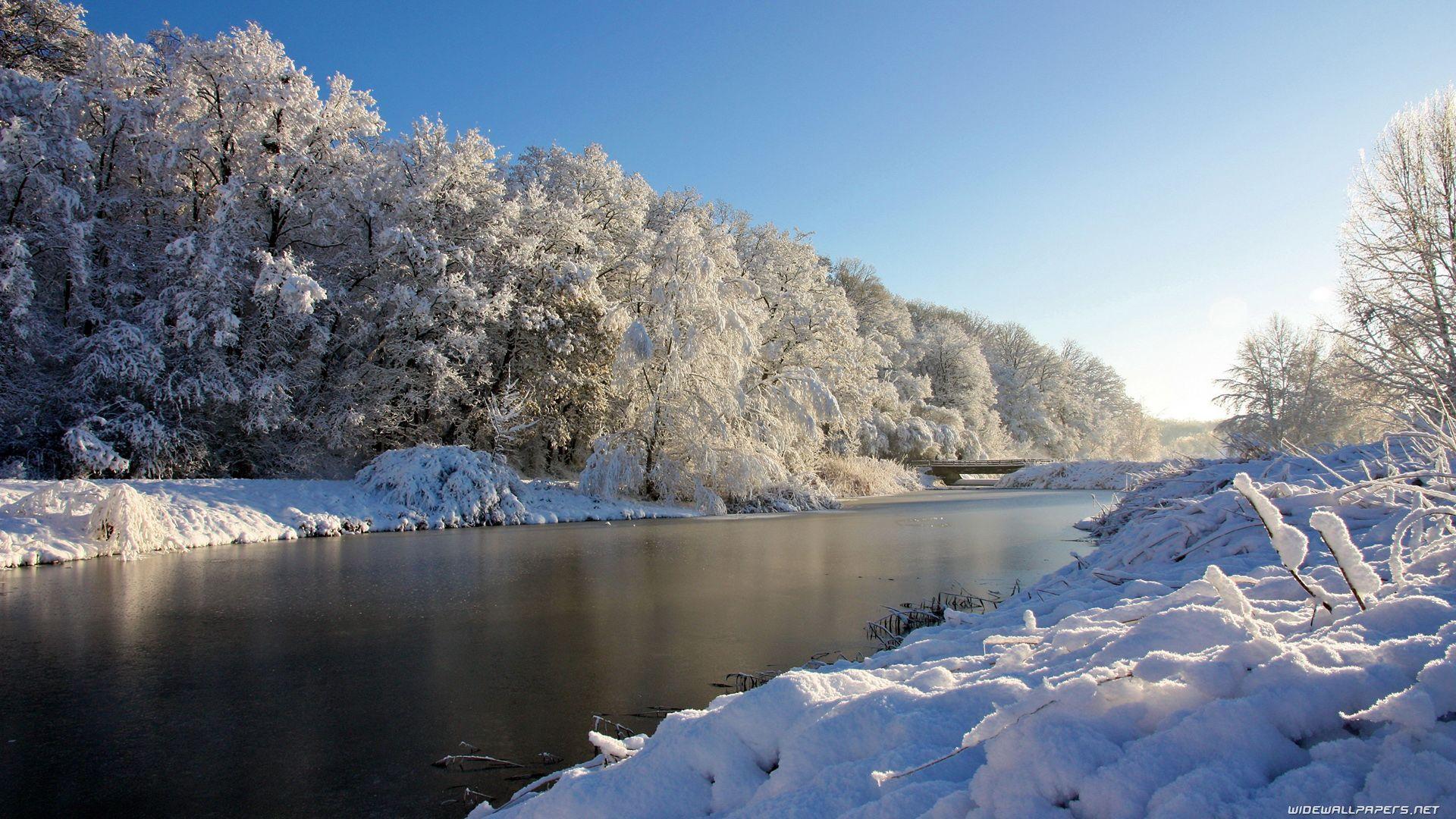 Paysage d hiver gratuit se rapportant fond d 39 cran hd paysage neige hiver fond d 39 cran hd - Paysage enneige dessin ...