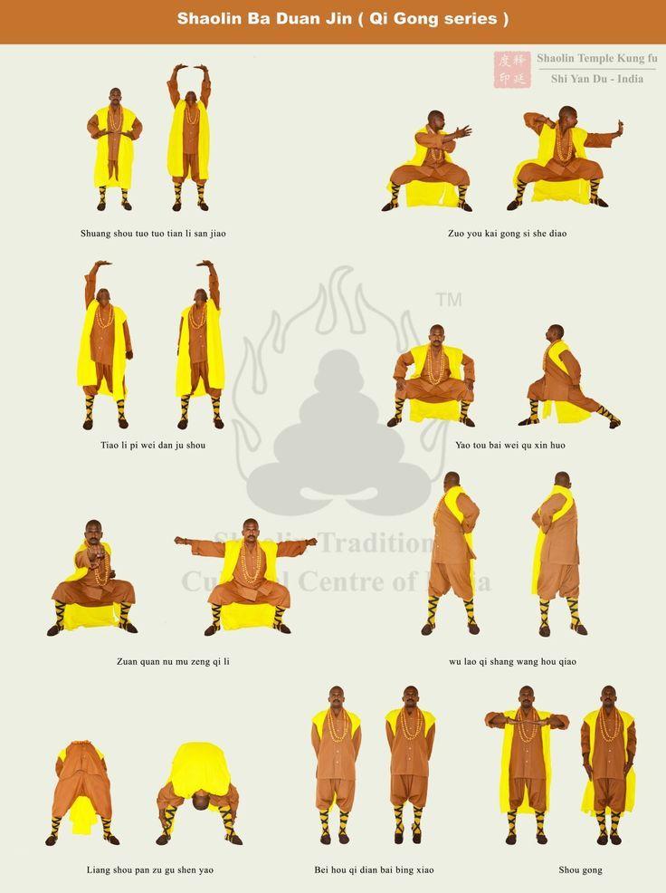 Master SHI YAN DU Performed Ba Duan Jinshaolin Qi Gong Internal Energy