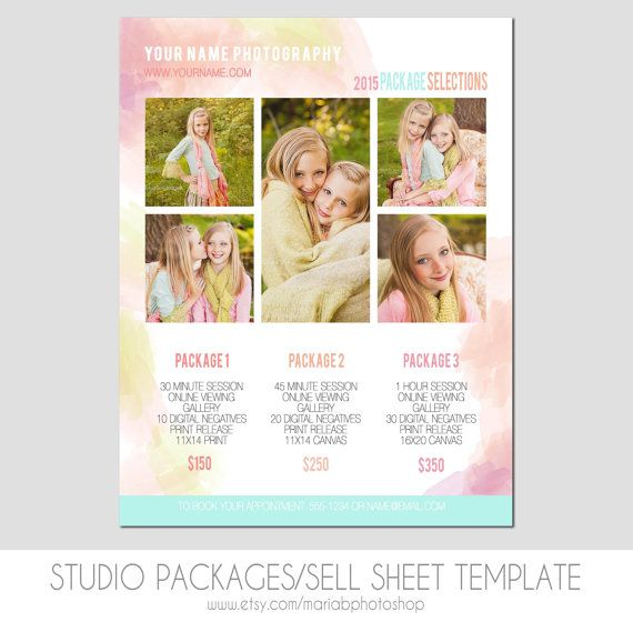 Sell Sheet Collections Or Packages Pricing By Mariabpaints