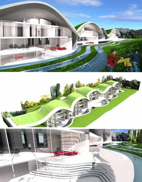 Futuristic Eco-Housing & Visionary Green Public Space