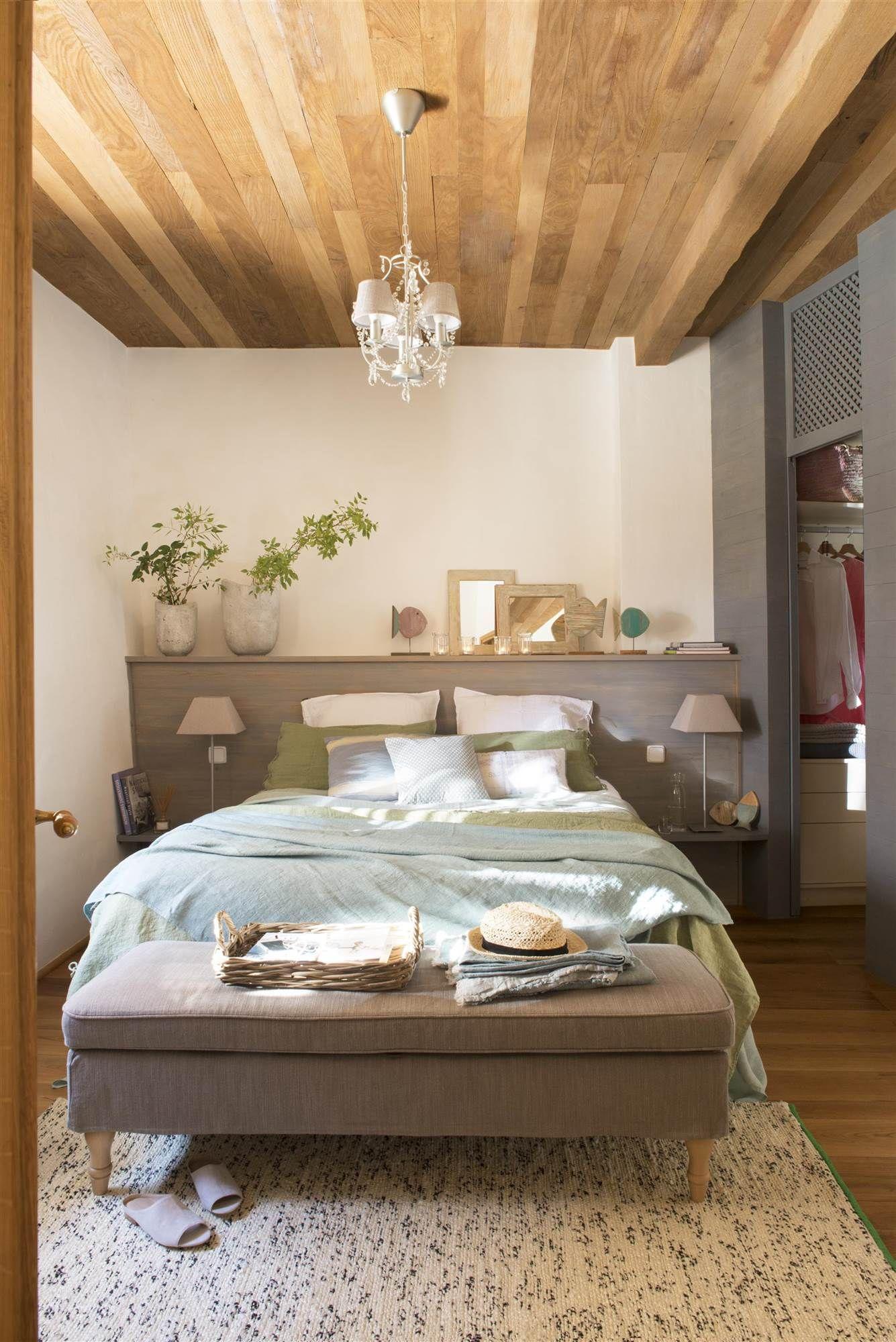 Sabes que se llevan los cabeceros de pared a pared for Lamparas para apartamentos pequenos