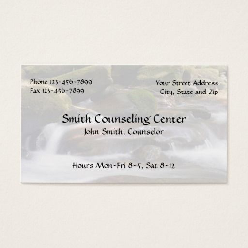 Counselor psychologist mental health business card mental health counselor psychologist mental health business card colourmoves