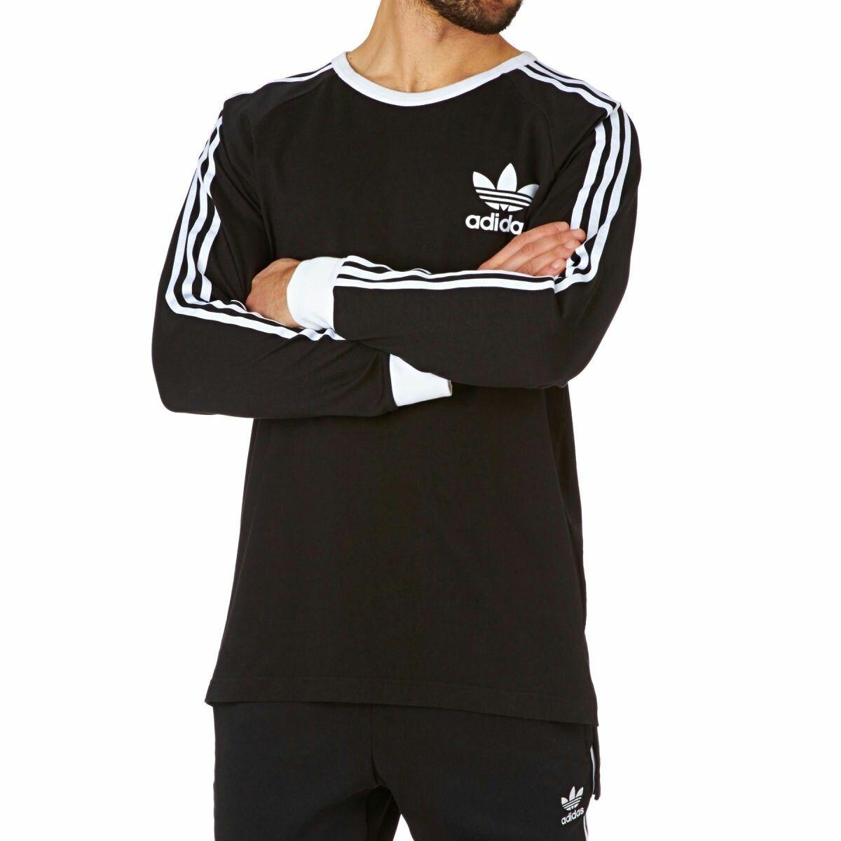 Adidas Originals' crew neck long sleeve tee in black
