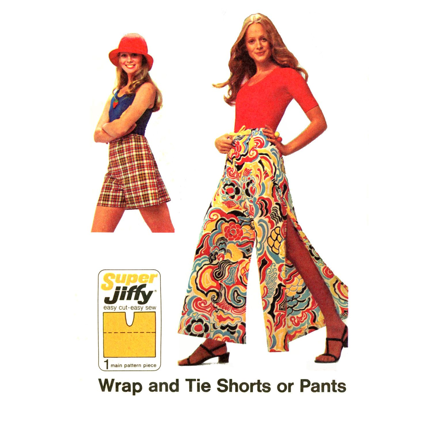 adjustable pants to accommodate weight gain 1970s Jiffy Wrap and Tie Pants Simplicity 5124 Misses Shorts or Evening Length Palazzo Wrap Pants Womens Vintage Sewing Patten One Size. $12.00, via Etsy.