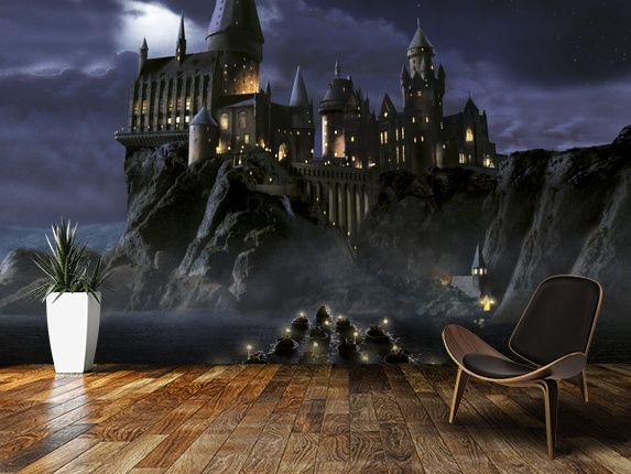 First time to Hogwarts wall mural room setting Wyatts room