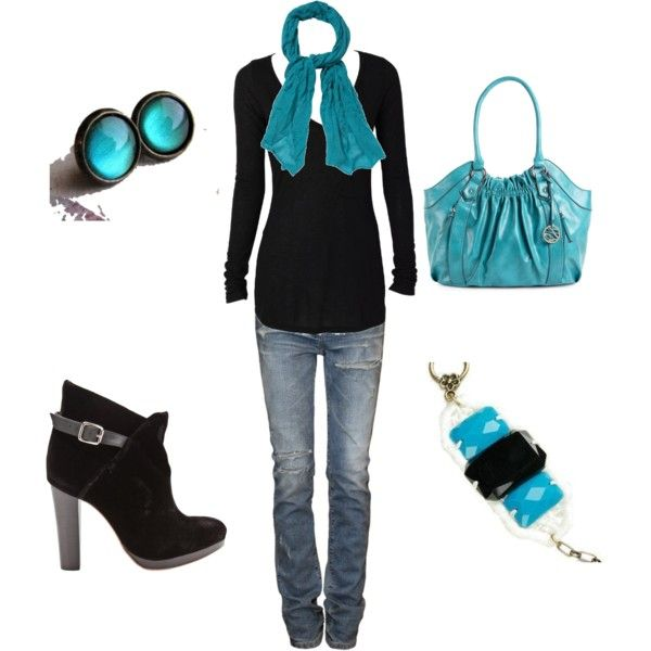 I like pops of turquoise!