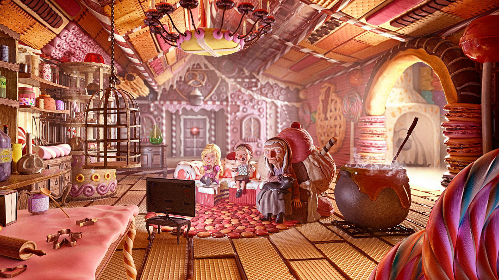 Hansel And Gretel On Behance Hansel And Gretel House Fairy Tales Candy House