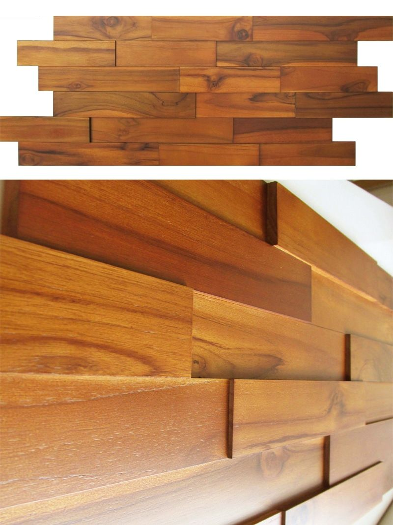 Interior Wood Paneling: Teak Real Wood Panels For Interior