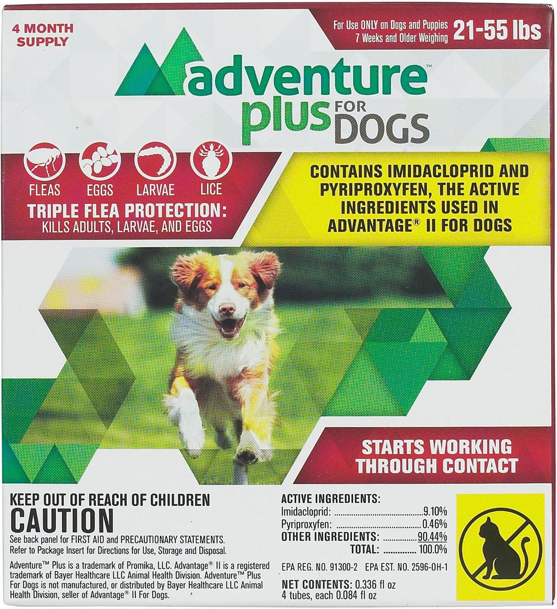 Adventure Plus for Dogs 4 pk (1120 lbs) Fleas, Dogs