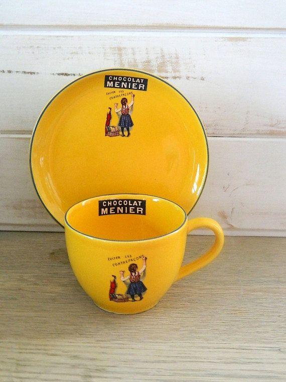 Nestle Chocolat Menier Large Mug and Plate  by MemeresAttic