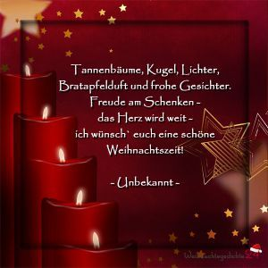 Weihnachtssprüche für Weihnachtsgrüße #1.adventspruch