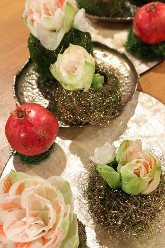 Tischdekoration Mit Amaryllis Tischdeko Buffet