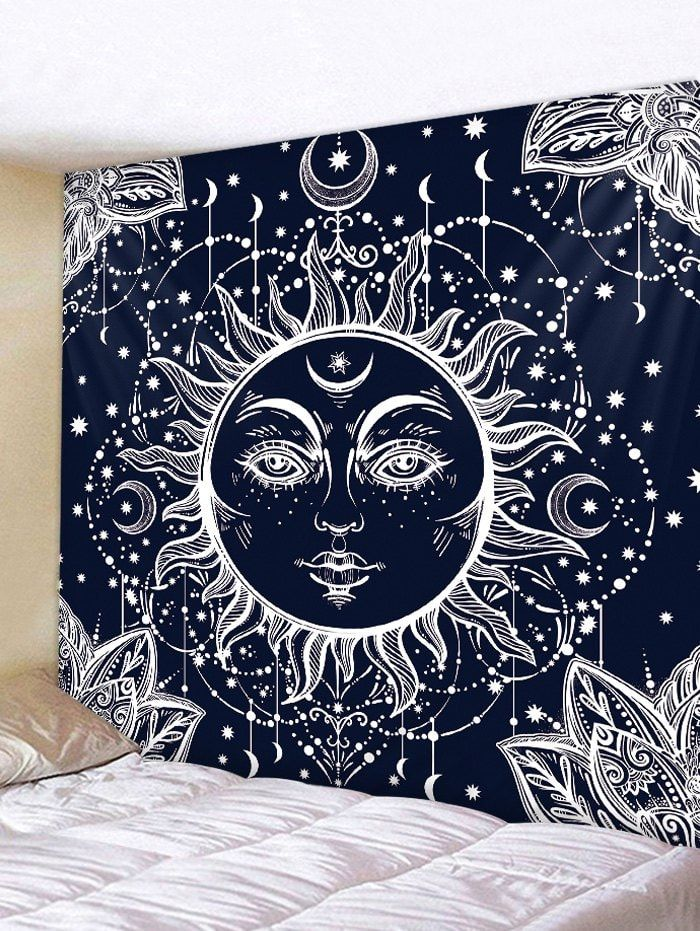sun moon pattern tapestry wall decoration tapestry wall on walls coveralls website id=70004