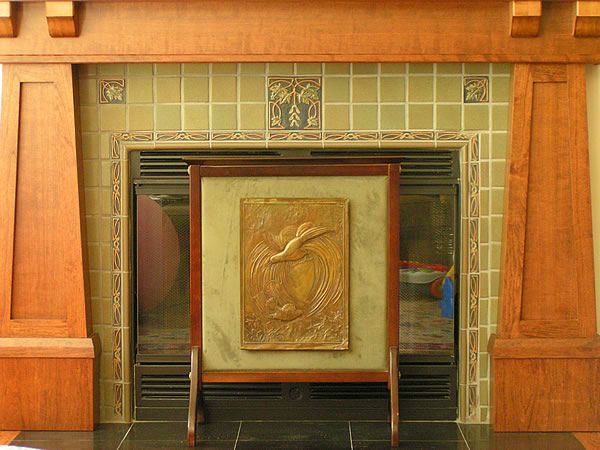 Designs By Hazelmere Fireplace Mantels Close Up Arts And Crafts Mantels Craftsman