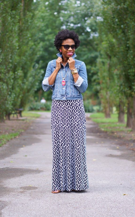 A Gap maxi dress as featured on the blog Economy of Style.