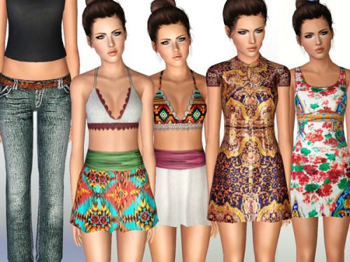 simmersstoreofgoodies:  Teen Set 2 (Request) Download * Includes .package & .sims3pack files.