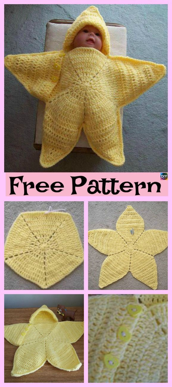 Cute Crochet Baby Star Bunting - Free Pattern | Pictures | Pinterest ...