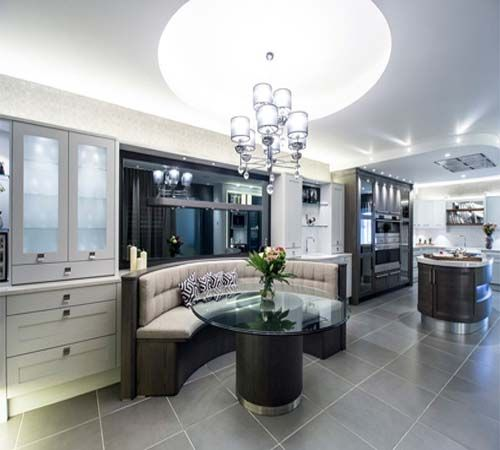 luxury shaped kitchen