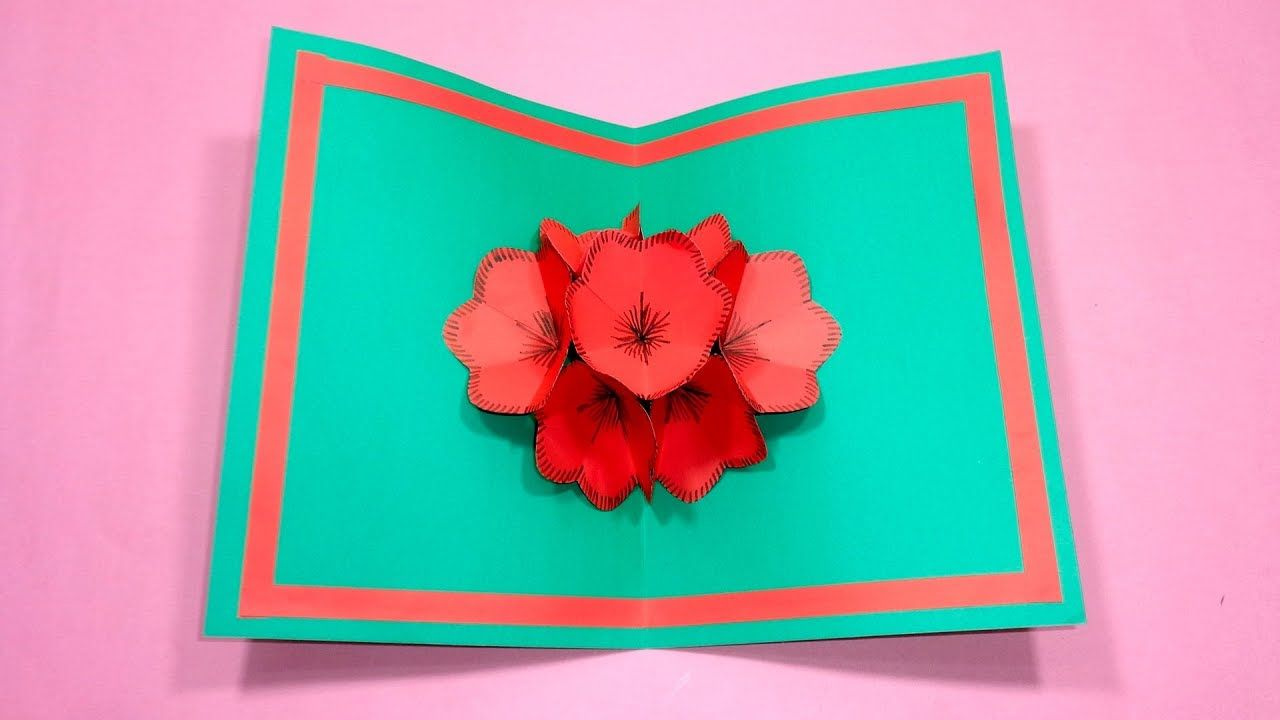 How to make a 3d flower pop up gift card diy pop up card for how to make a 3d flower pop up gift card diy pop up card for m4hsunfo Image collections