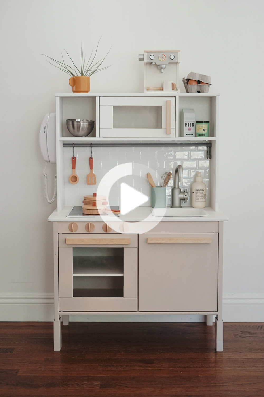 modern ikea play kitchen hack in 2020 Ikea toy kitchen