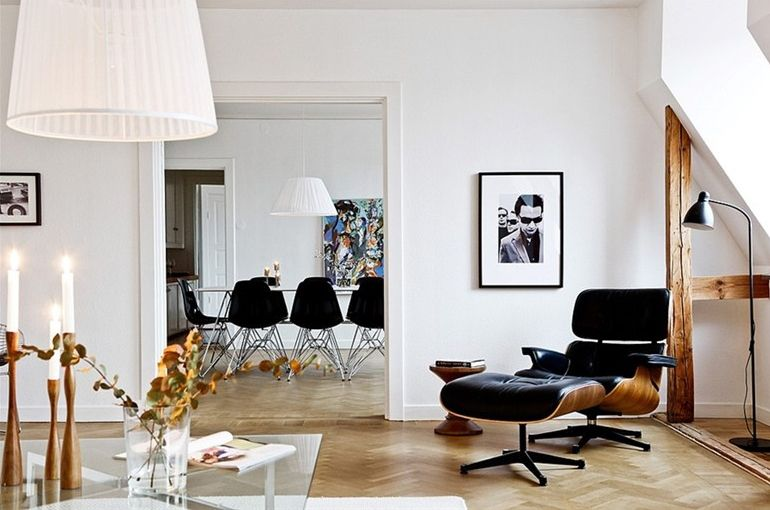 Een Eames Lounge Chair thuis > De #Eames #lounge #Chair staat ...