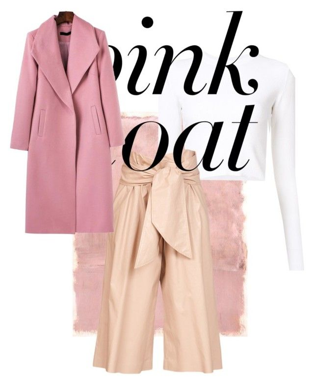 """PINK COAT!"" by evitatrii ❤ liked on Polyvore featuring Rothko, Proenza Schouler, MSGM and WithChic"