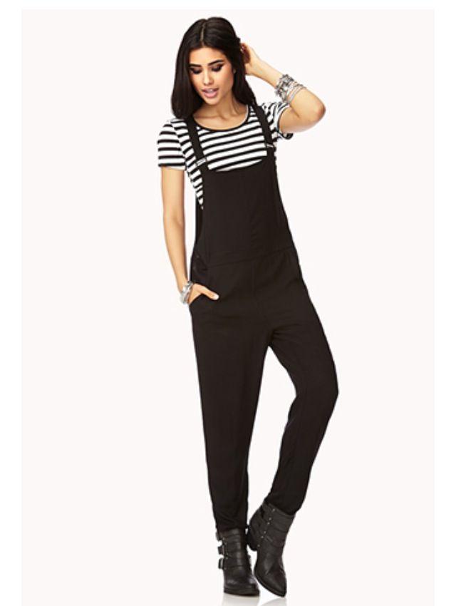 a469255e4b3 Black Dressy Overalls-Forever 21