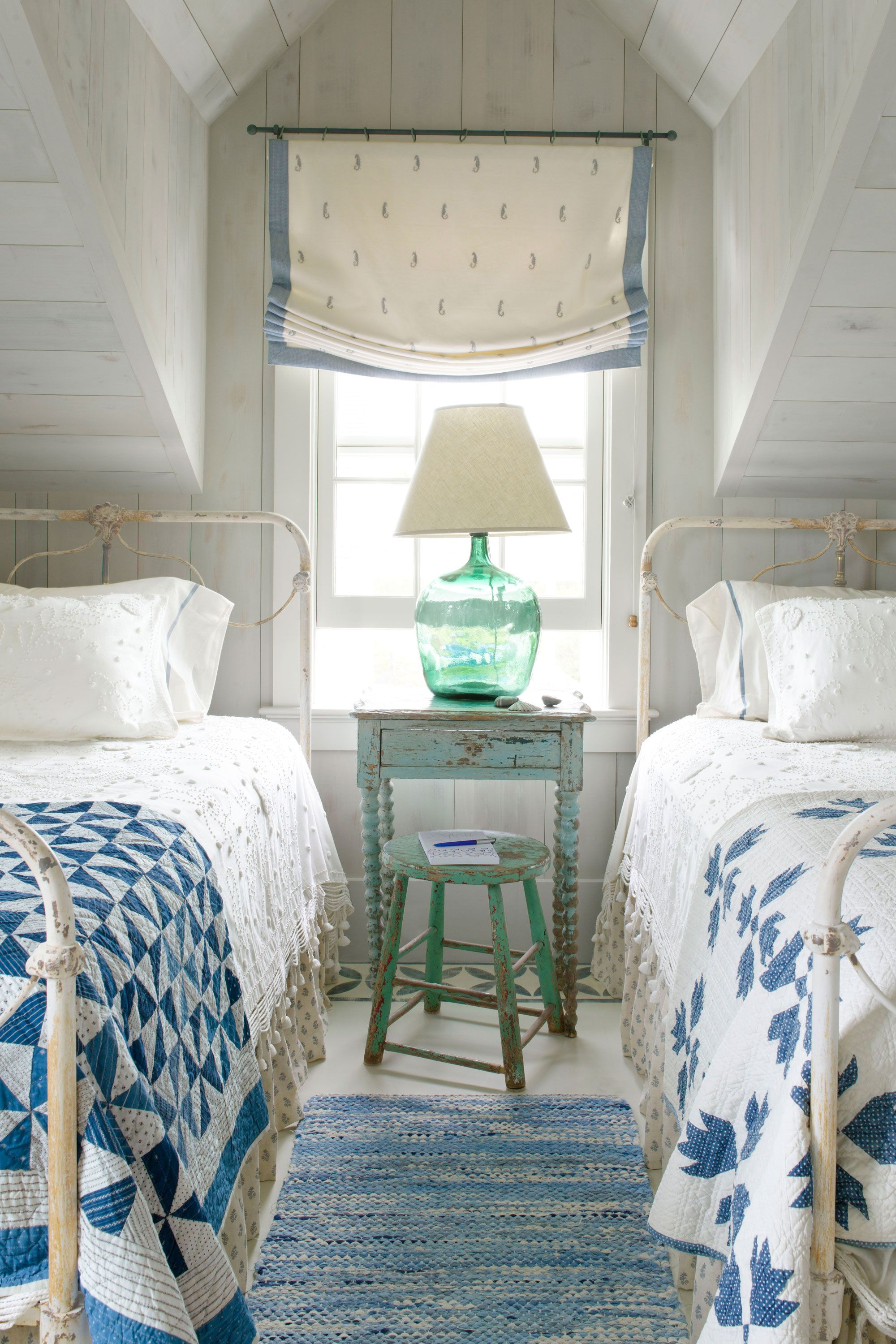 Sea Inspired Bedroom   CountryLiving.com White Cottage, Coastal Cottage,  Beach Cottage