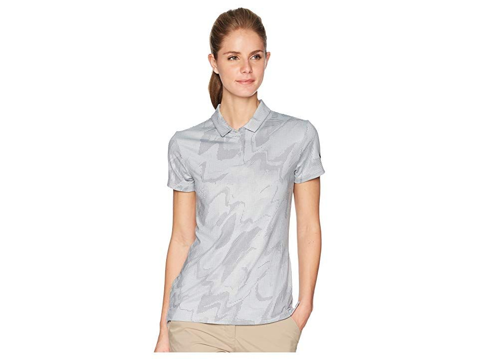 info for 30780 069cf Nike Golf Dry Polo Short Sleeve Sub Print (Wolf Grey Black) Women s Short  Sleeve Pullover. Walk the fairway with unbeatable style in the Nike Golf  Dry Polo.