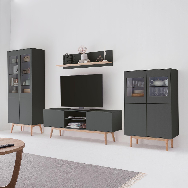 TV-Lowboard Lindholm | Wohnen, Haus deko und Wohnwand grau