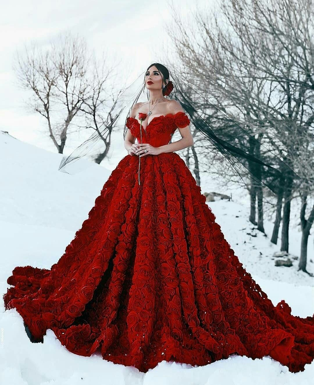 Wedding Red Dress Weddingdress Red Wedding Dresses Short Sleeve Wedding Dress Red Wedding Gowns