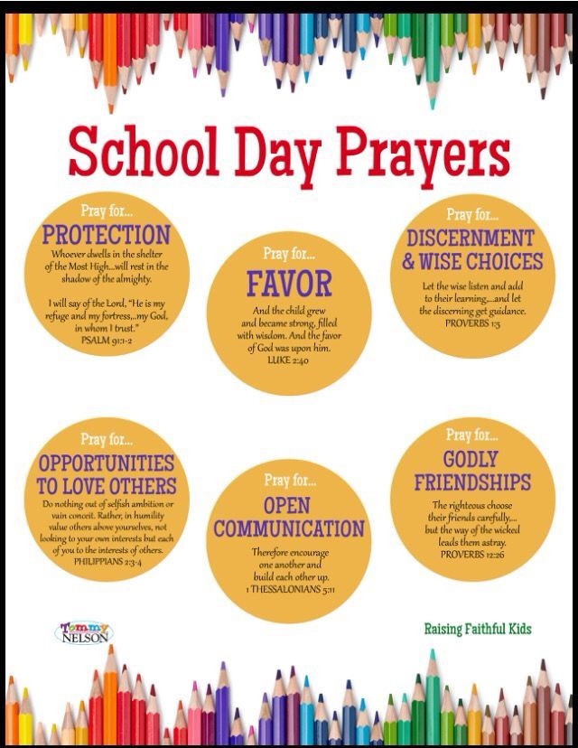 Prayers for a new year and every school day | A little talk with ...