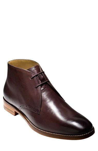 cc7bdddde9 Cole Haan  Cambridge  Chukka Boot (Men) at Nordstrom.com. Sharp broguing  adds a touch of texture to a handsome chukka boot formed from lustrous  leather.