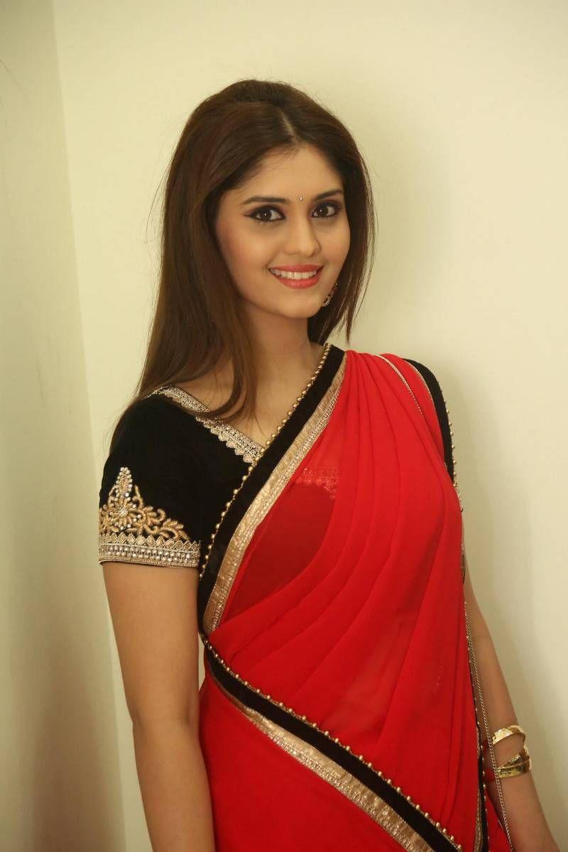 Surabhi Hot Photos In Red Saree
