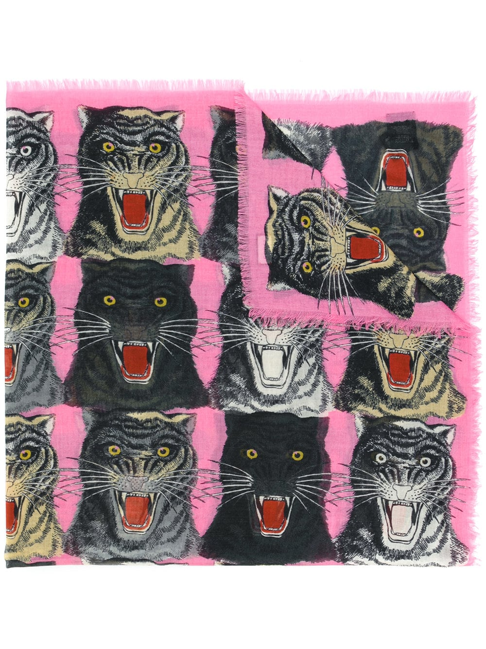 75530bf43 Gucci tiger face print shawl - Multicolour in 2019 | Products ...