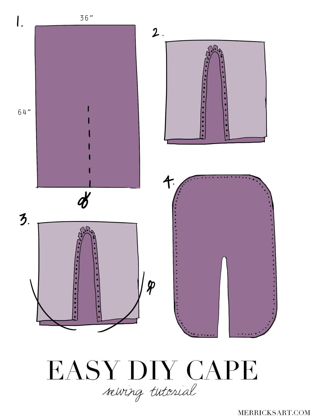 DIY FRIDAY + HANDMADE HOLIDAYS: EASY DIY CAPE | Ponchos, Costura y ...