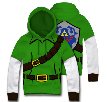Legend of Zelda: Link Hoodie - $70 USD [from Mexico]