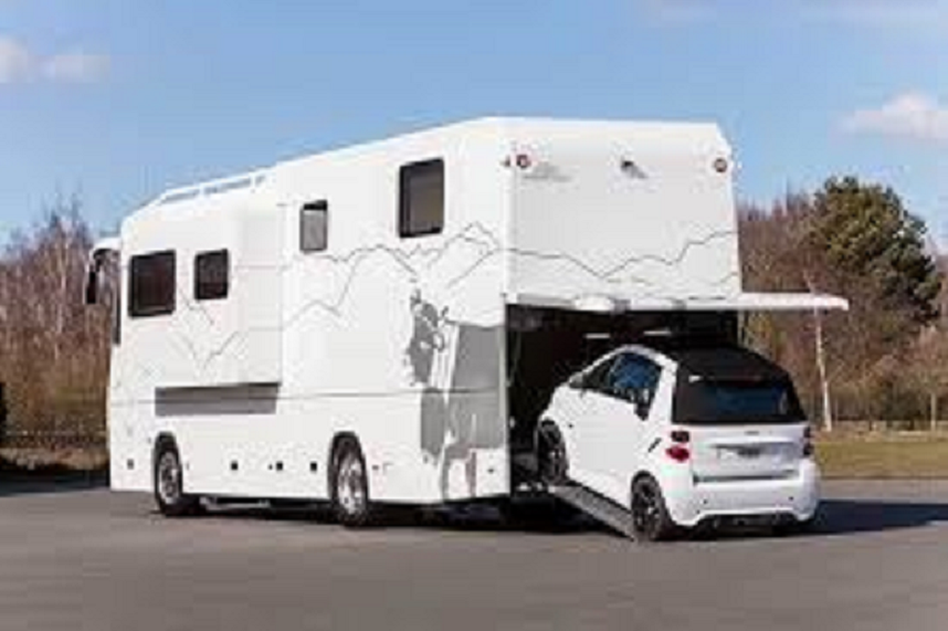 Vario 1100sh model combo motorhome and toy hauler built for Class a rv with car garage