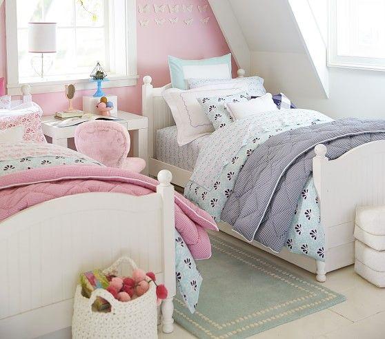 Pearl Dot Border Rug In 2020 Twin Girl Bedrooms Kids