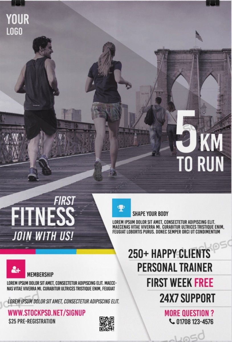 First Fitness – Free PSD Health & Sport Flyer Template - Free PSD ...