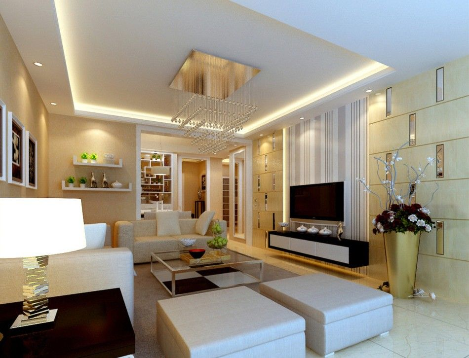 Creative Living Room Partition With TV Wall Design On Rooms