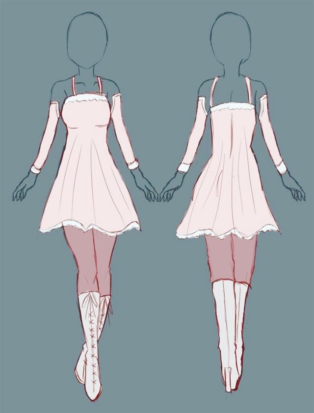 Pin By Animelover347 On Outfits Drawings 3 Anime Dress Dress