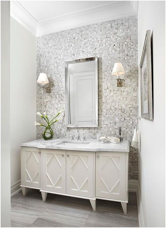 awesome Unique Tile Accent Wall Bathroom mifd283 Pinterest