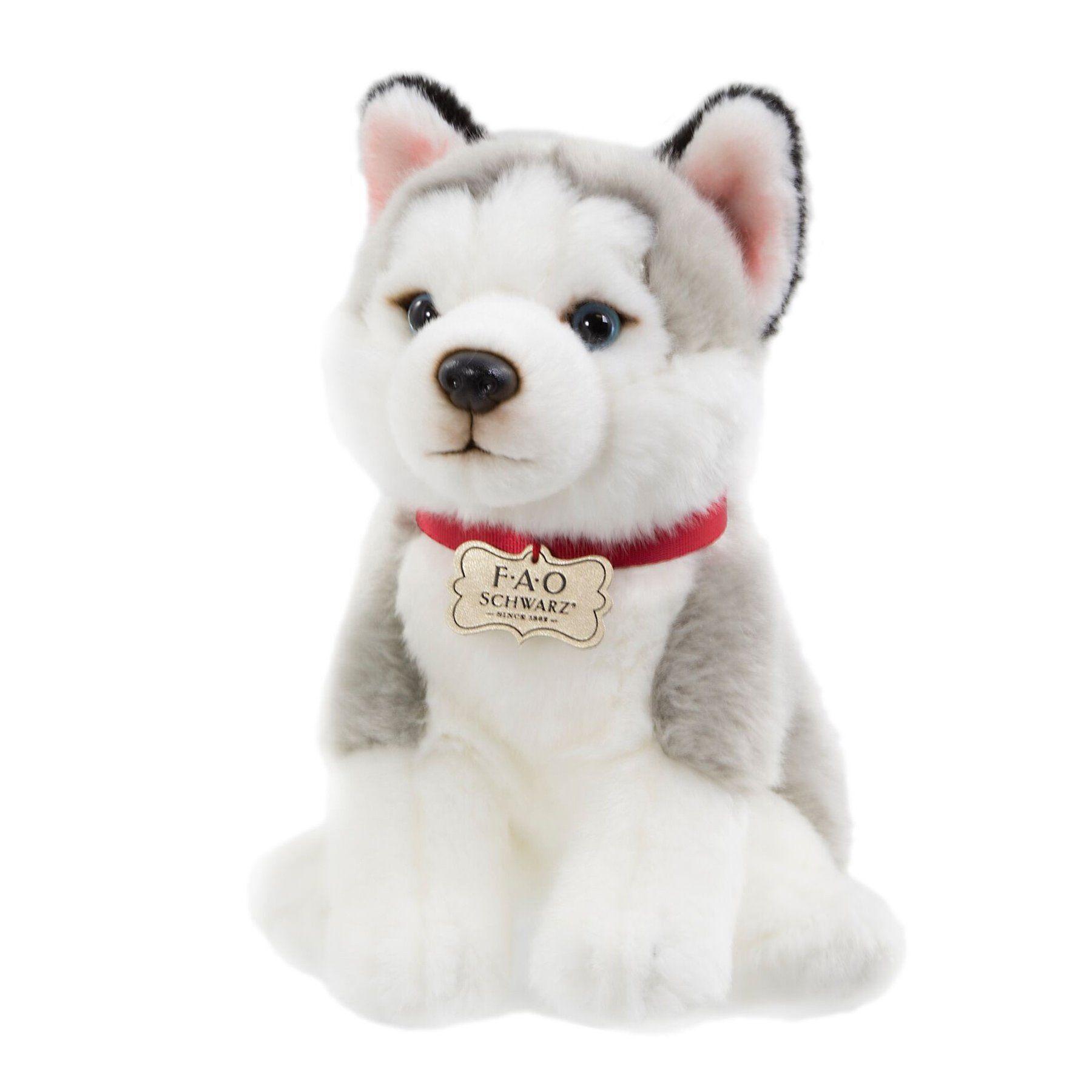 Plush Husky Puppy FAO Schwarz Pet toys, Plush stuffed