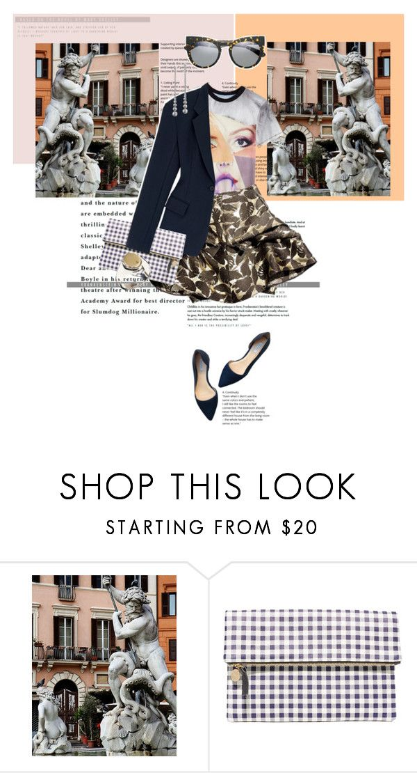 """""""Voglio vivere in Roma"""" by bananya ❤ liked on Polyvore featuring Clare V. and Cole Haan"""