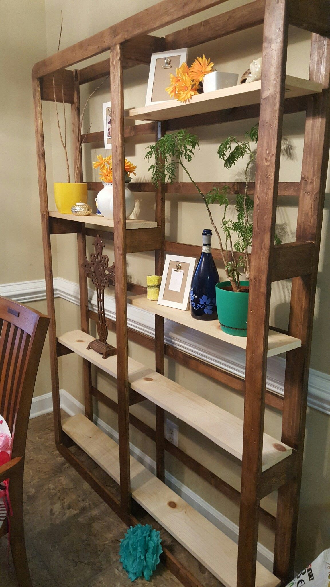 Book shelves made from an old box spring. | Something out of nothing ...
