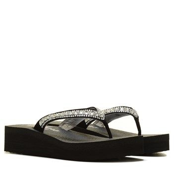 Skechers Vinyasa Treasure Trove Flip Flop Sandal Black F96e4367