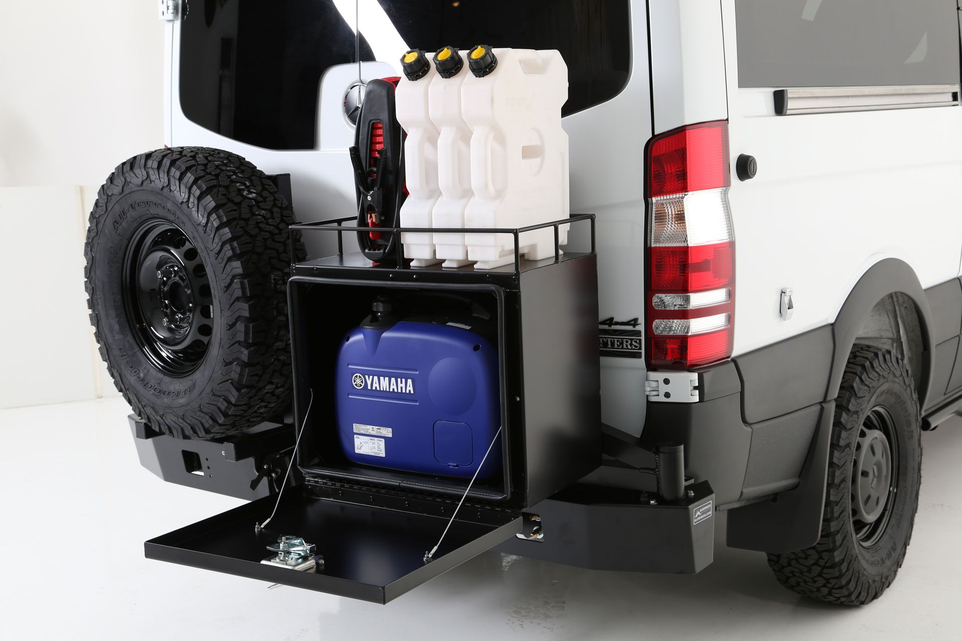 Sprinter Van With Aluminess Rear Bumper Galley Box With Drop Down Door And Bolt On Box Rails From Exclusive Outfitters Autocaravana Autos Furgoneta